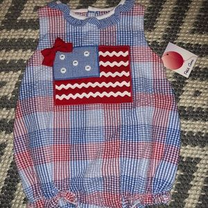 NWT Petit Ami American Flag Baby 1 Piece 3 Months